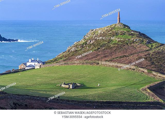 Heinz Monument at Cape Cornwall, St. Just, Cornwall, England, United Kingdom, Europe