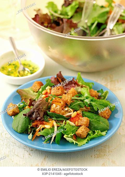 Celeriac salad with pine nuts