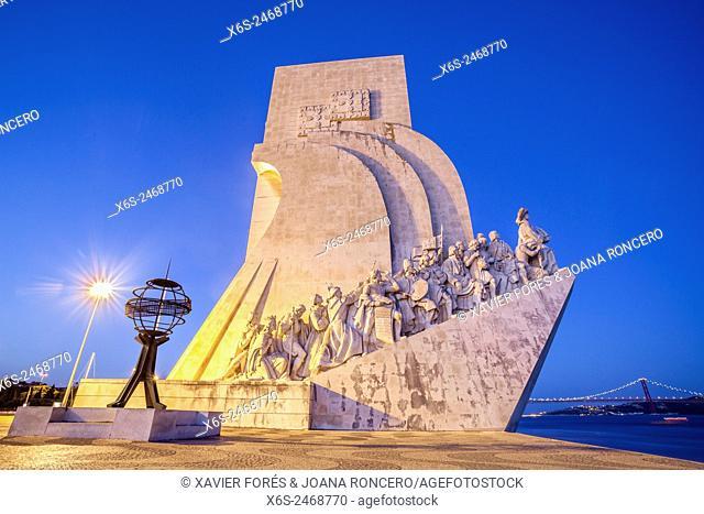 Padrao dos Descobrimentos or Monument to the Discoveries in Belem quarter, Lisboa, Portugal