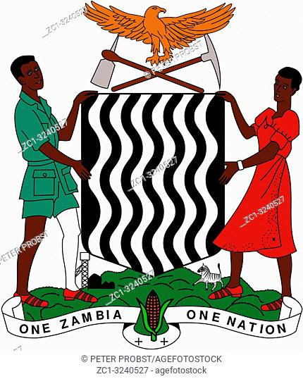National coat of arms of the Republic of Zambia