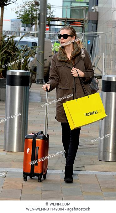 Countdown Presenter Rachel Riley arrives fresh faced and makeup free at the Countdown Studio in Media City Featuring: Rachel Riley Where: Manchester