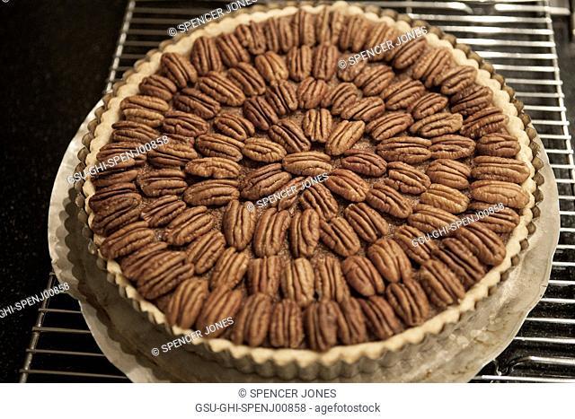 Pecan Pie on Cooling Rack
