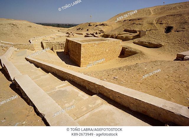 Tomb of Irukaptah (The Butchers). Archeological remains. Saqqara necropolis. Egypt