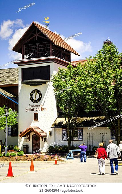 The clock tower of the Bavarian Inn Frankenmuth Michigan MI