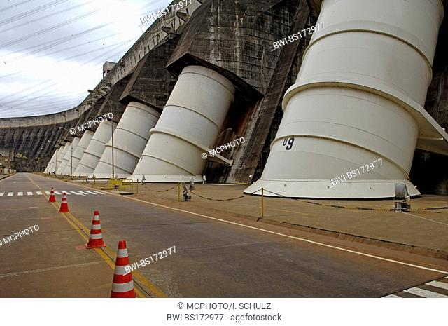 turbines of the hydroelectric power station Itaipu, Paraguay, Paranal