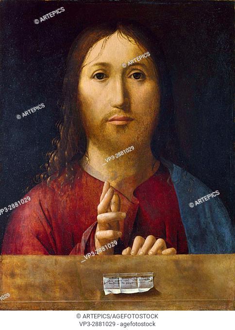 Antonello da Messina . Salvator mundi. National Gallery - London