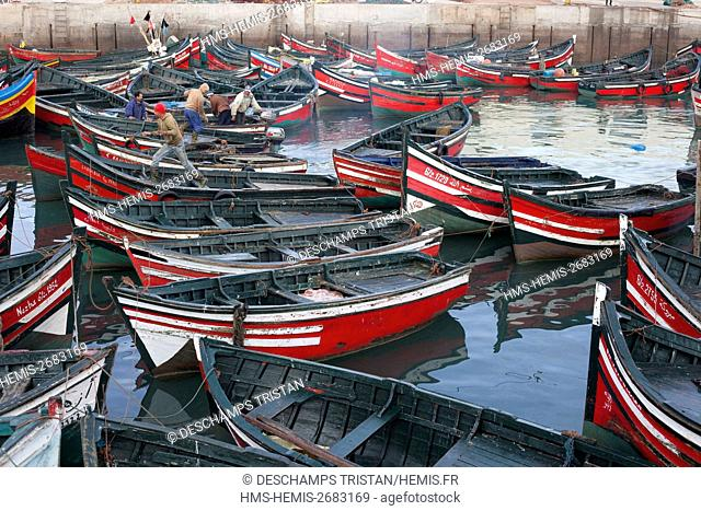 Morocco, El Jadida, Portuguese city, listed as World Heritage by UNESCO, Fishing port