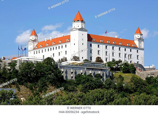 Slowakische Republik, Slowakei, Westslowakei, Bratislava, Pressburg, Hauptstadt, Donau, Kleine Karpaten, Burg Bratislava auf dem Burgberg, Barock
