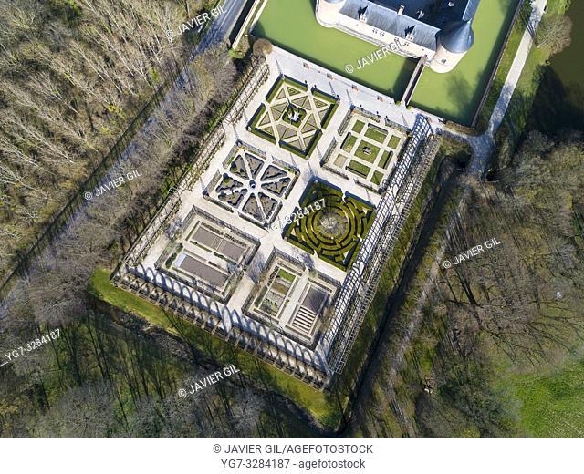 Castle of Chamerolles, Chilleurs-aux-Bois, Loiret, Centre Val de Loire, France