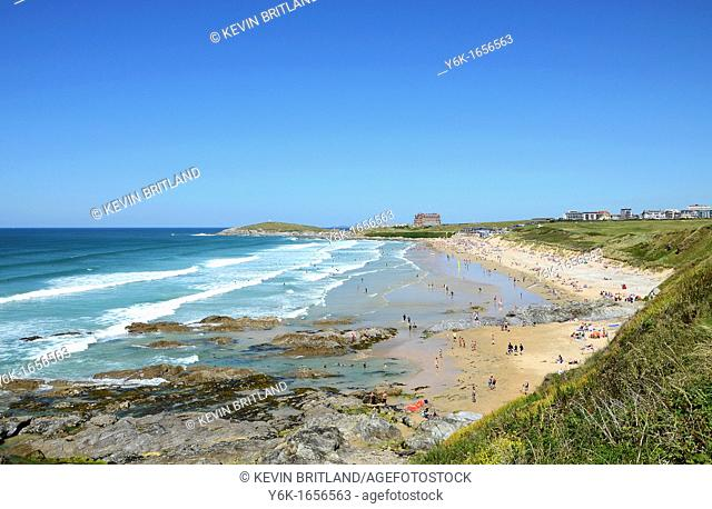 the famous ' fistral beach ' at newquay in cornwall, england, uk