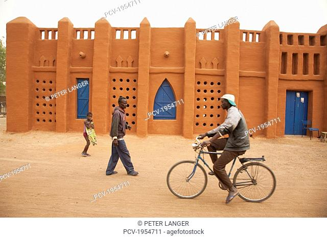 Traditional mud brick building in Segou, Mali