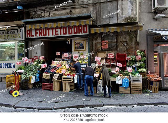 vegetable shop in spagnoli area of Naples