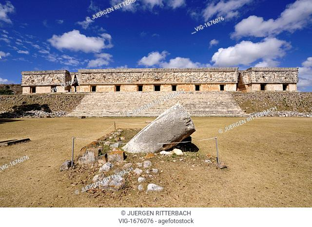 MEXICO, MERIDA, UXMAL, 23.03.2009, Maya ruin of Uxmal, The Governor's Palace, Mexico, Latin America, America - MERIDA, UXMAL, MEXICO, 23/03/2009