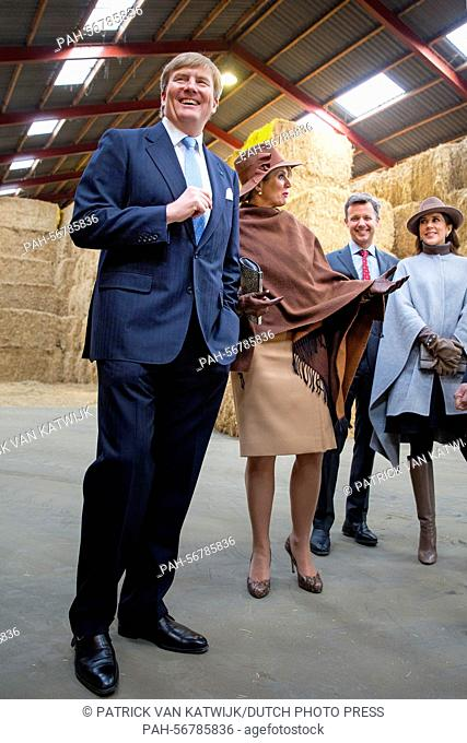 King Willem-Alexander and Queen Maxima of The Netherlands and Crown Prince Frederik and Crown Princess Mary of Denmark visit Samso Island, Denmark
