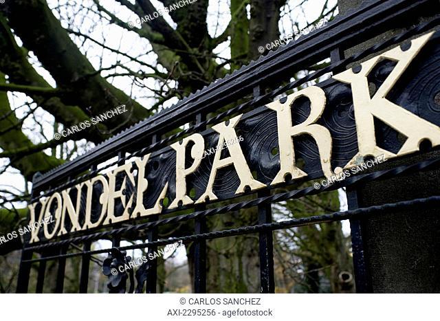 Entrance To Vondel Park, Amsterdam, Netherlands