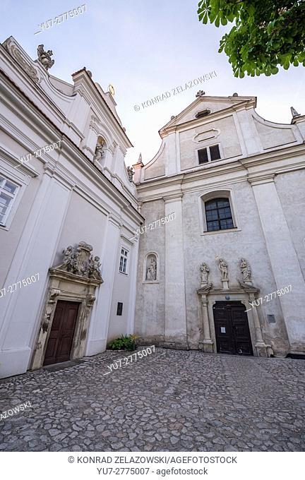 Church of Saint John the Baptist, part of the Piarist Grammar School in Mikulov town, Moravia region, Czech Republic