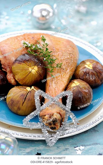 Turkey with fig and honey