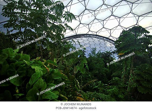 Cornwall, Bodelva, Ecodome, the Eden Project