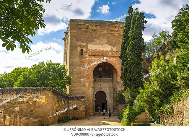 Puerta de la Justicia. Gate of Justice. Alhambra, UNESCO World Heritage Site. Granada City. Andalusia, Southern Spain Europe