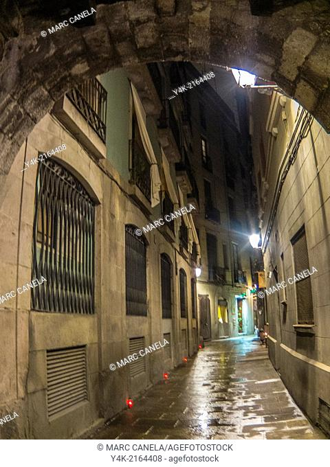 Europe, Spain, Barcelona, carrer Rosic