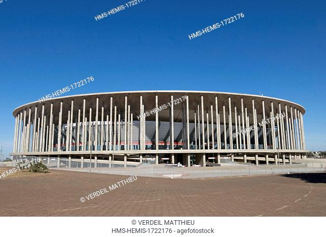 Brazil, Brasilia, listed as World Heritage by UNESCO, The Estadio Nacional de Brasilia Mane Garrincha National Stadium in Brasilia - Mane Garrincha
