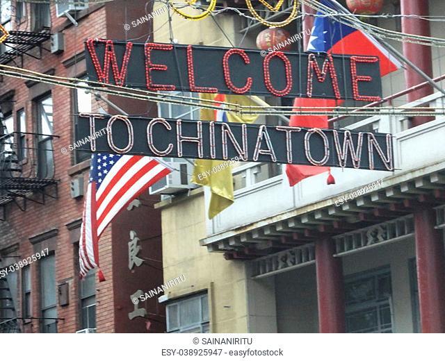 Chinatown in New York City, USA