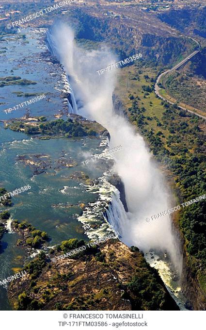 Zimbabwe, Victoria Falls on the Zambezi River