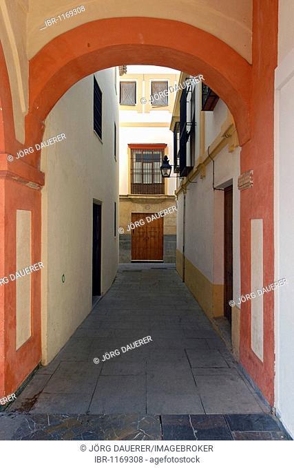 Arc near Plaza Corredera, Cordoba, Andalusia, Spain, Europe