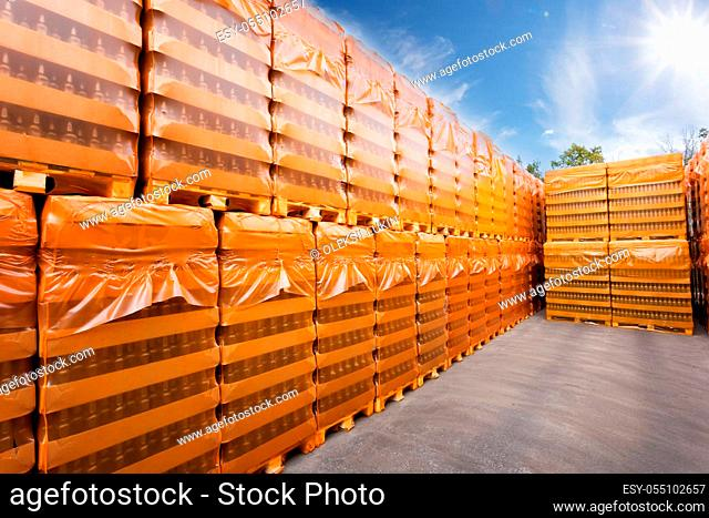 Packages of finished products in stock plant