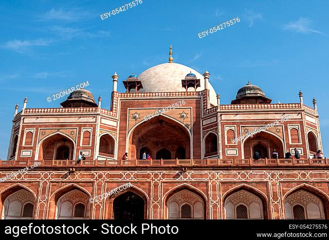 humayun's tomb complex in new delhi, india taken during warm midday