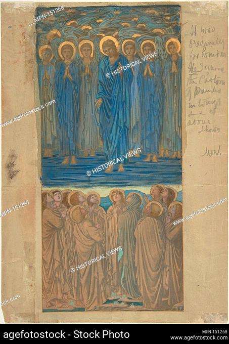 Ascension of Christ (Acts I, 1-9): Study for stained-glass window. Artist: Sir Edward Burne-Jones (British, Birmingham 1833-1898 Fulham); Date: ca
