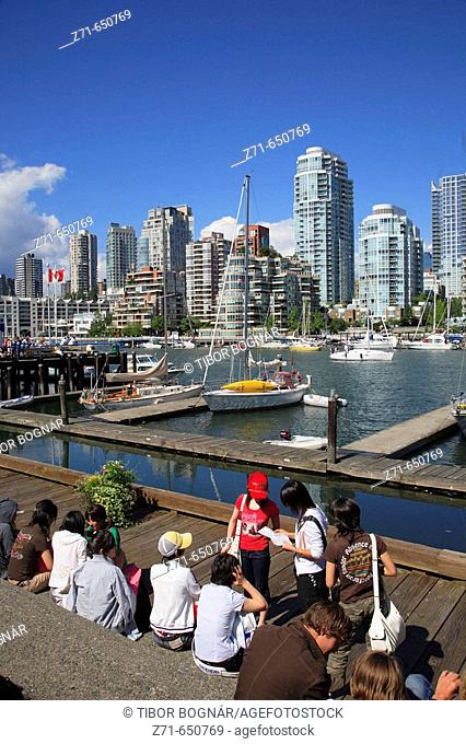 Canada, British Columbia, Vancouver, False Creek, skyline