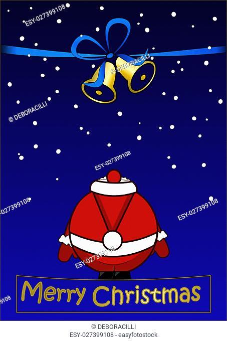 Merry Christmas - Christmas card with Santa Claus