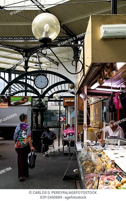 Marche Saint-Quentin market at Boulevard de Magenta in 10th district in Paris, France