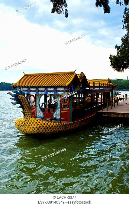 The beautiful view of the Summer Palace in Beijing, China
