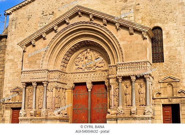 France, Arles, St Trophime, church, west portal