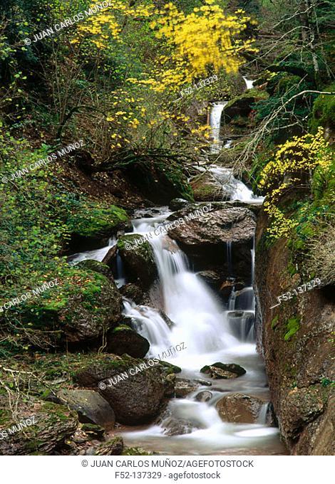 Boca del Infierno River in Echo Valley. Huesca province. Aragon, Spain
