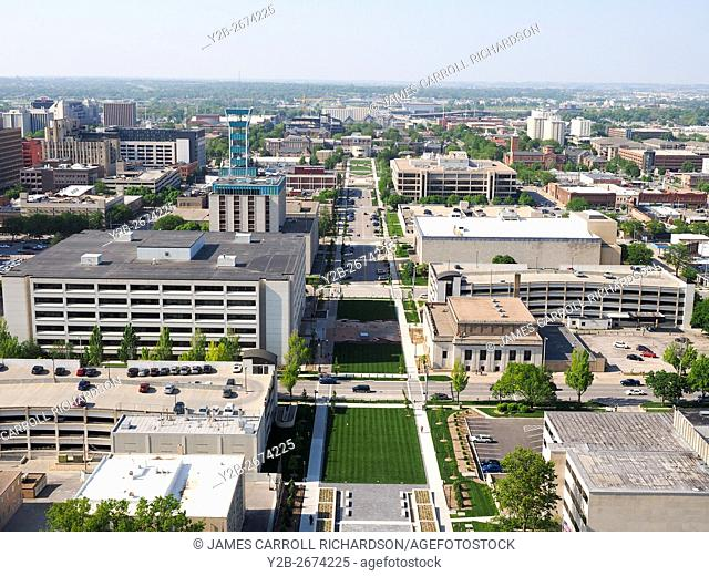 View from State Capitol Building Lincoln Nebraska