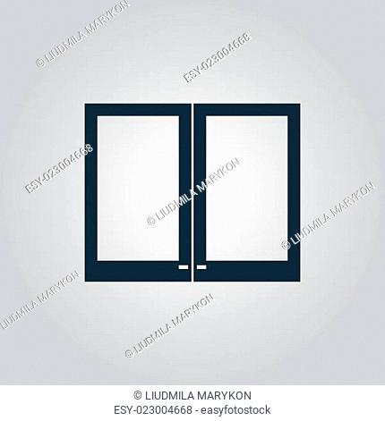 Two plastic Window icon, sign and button