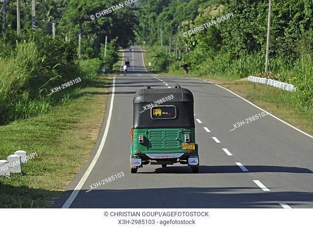 rickshaw, Uva Province, Sri Lanka, Indian subcontinent, South Asia