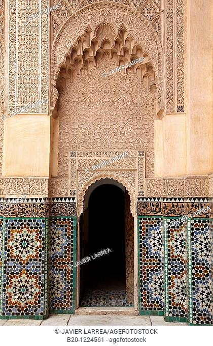 Ali ben Youssef Medersa, Traditional islamistic theological university in the Medina of Marrakesh, Marruecos