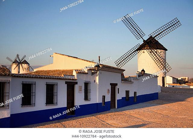 Spain, Europe, Don Quijote, La Mancha, ancient, architecture, ecology, energy, hill, historic, road, romantic, skyline, sunset, touristic, tradition, windmills