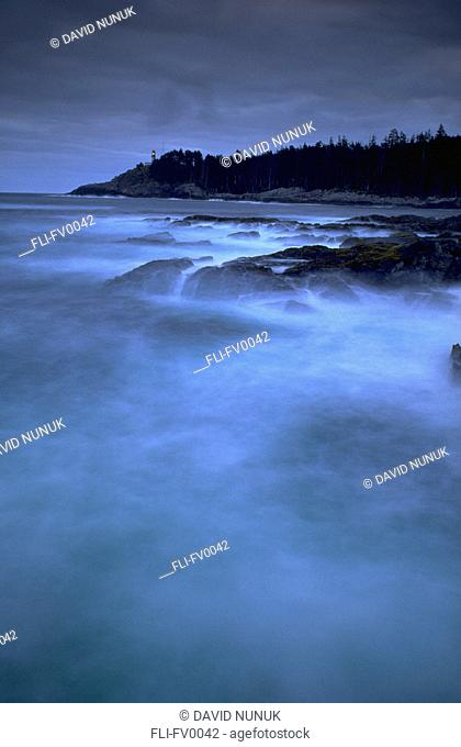 Coastline at dusk, Langara Island, Queen Charlotte Island, BC