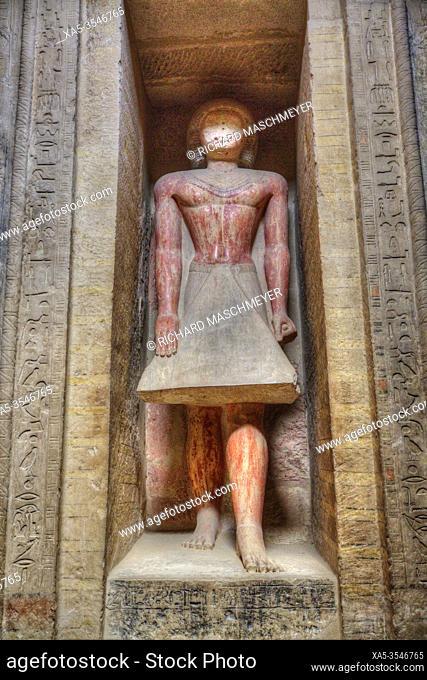 Statue of Mereruka, Mastaba of Mereruka, Necropolis of Saqqara, UNESCO World Heritage Site, Saqqara, Egypt