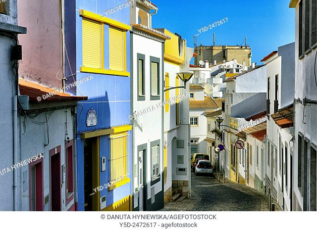 narrow street, old town of Lagos, Algarve, Portugal, Europe