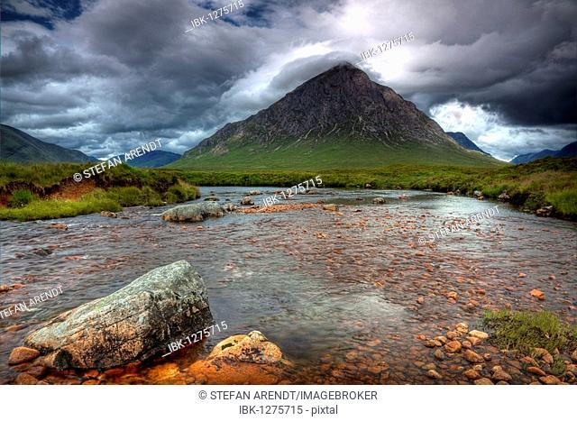 Stob Dearg mountain in Glencoe in the Scottish Highlands, Scotland, United Kingdom, Europe