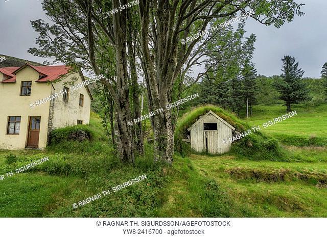 Old farmhouses, Kvisker farm, Iceland