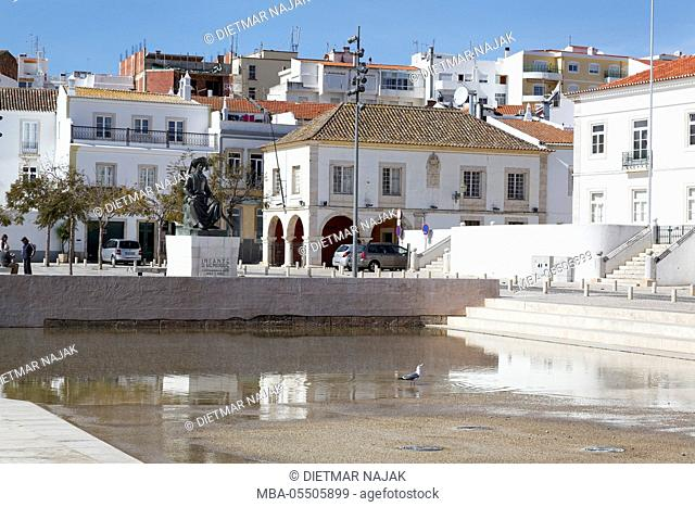 historical old town of Lagos with the Praca do Infante and the monument for Henry the Navigator, Algarve, Portugal, Europe