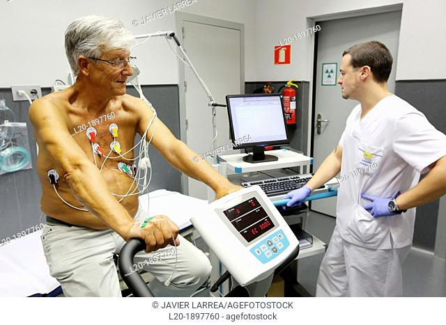 cardiology stress test, Myocardial perfusion scintigraphy in effort, Nuclear medicine, Onkologikoa Hospital, Oncology Institute, Case Center for prevention