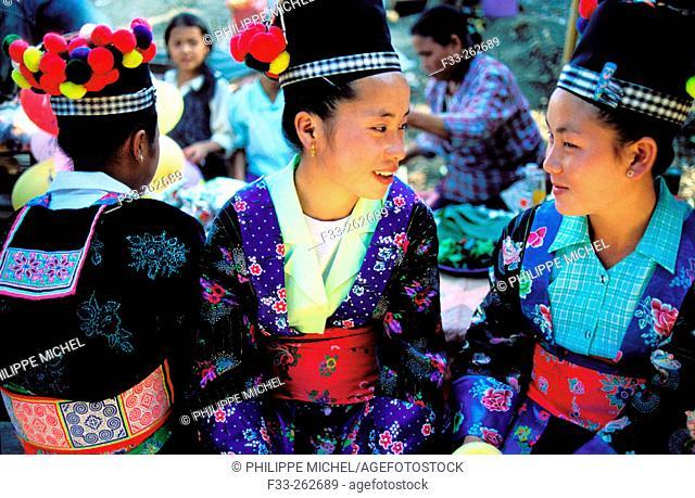 Hmong women. Luang Prabang. Laos